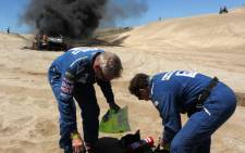 South African rider Elmer Symons died when he crashed his bike during the 2009 Dakar Rally. He had entered as a privateer on a KTM bike. Picture: Supplied.