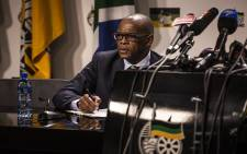 ANC secretary-general Ace Magashule briefs the media on 29 May 2018. Picture: Kayleen Morgan/EWN