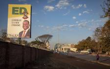 A Zanu-PF election poster in Harare. Picture: Thomas Holder/EWN
