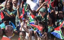 FILE: South Africa and Springbok flags are flying high on Saturday, with families coming out to catch a glimpse of their heroes. Picture: Abigail Xavier/EWN