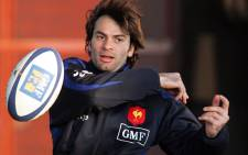 FILE: France's winger Christophe Dominici practices during a training session at the Rugby Union National Center in Marcoussis on January 31, 2006. Picture: AFP