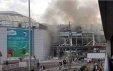 FILE: A screengrab of Brussels Airport after two explosions took place on Tuesday 22 March 2016. Picture: Youtube.