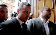 Oscar Pistorius arrives in court on 5 March 2014. Picture: Sebabatso Mosamo/EWN
