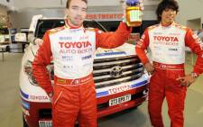 Toyota Auto Body driver Jun Mitsuhashi (right). Picture: Supplied.