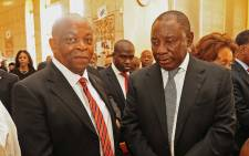 Ronnie Mamoepa and Deputy President Cyril Ramaphosa. Picture: GCIS.