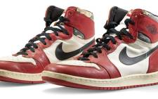 Michael Jordan's Air Jordan 1 Highs. Picture: www.christies.com