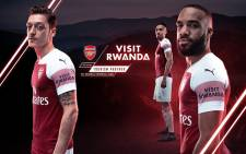 A screengrab of Arsenal's sleeve sponsor. Picture: CNN
