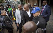 DA leader Mmusi Maimane leaves the Zambian embassy in Pretoria on 26 May 2017. Picture: Thomas Holder/EWN