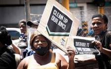 Free State ANC members protest at the party's Luthuli House headquarters in Johannesburg on 19 October 2020. Picture: Xanderleigh Dookey/EWN