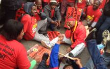 Numsa demonstrators in Cape Town. Picture: Aletta Gardner/ EWN.