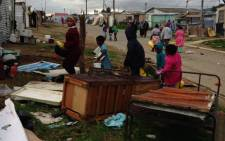FILE: Residents of the Lwandle informal settlement were forcibly removed from their homes. Picture: EWN/Lauren Isaacs.