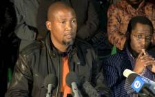 Mandla Mandela at a press conference held at his Mvezo residence. Picture: Supplied
