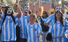 Argentina fans outside Ellis Park Stadium. Picture: Taurai Maduna/Eyewitness News