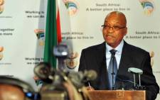 FILE: President Jacob Zuma announcing the newly appointed Cabinet and deputy ministers. Picture: GCIS.