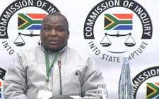 A screengrab of former Democratic Alliance councillor of Phumelele Municipality in Vrede, Doctor Radebe, giving evidence at the state capture inquiry on 25 July 2019.