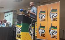Bandile Sizane speaks at the Gauteng ANC's provincial general council on 2 December 2017. Picture: @GautengANC/Twitter
