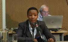 A YouTube screengrab of the former head of South African Revenue Service (Sars) integrity unit Tshebeletso Seremane.