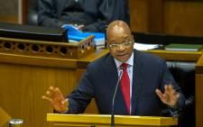 President Jacob Zuma speaks in Parliament. Picture: GCIS.