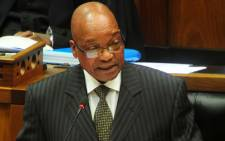 President Jacob Zuma delivering the Presidency Budget vote in the National Assembly on 12 June 2013. Picture: GCIS