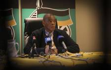 ANC secretary general Ace Magashule is seen during the ANC press conference on 31 August 2018 on the outcomes of the special ANC NEC meeting held in Cape Town. Picture: Cindy Archillies/EWN