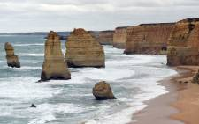 FILE: Natural limestone structures known as the Twelve Apostles off the shore of the Port Campbell National Park, by the Great Ocean Road in Victoria. Picture: AFP