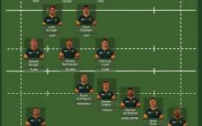 The Springbok team that will take on Scotland.  Picture: EWN