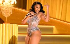 Megan Thee Stallion performs onstage during the 63rd Annual Grammy Awards at the Los Angeles Convention Center in California and broadcast on 14 March 2021. Picture: Kevin Winter/Getty Images for The Recording Academy/AFP