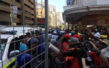 Several protestors clashed with public order police in Cape Town ahead of Sona 2016. Picture: Xolani Koyana/EWN.