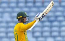 FILE: Quinton de Kock of South Africa celebrates his half century during the 5th and final T20I between West Indies and South Africa at Grenada National Cricket Stadium, Saint George's, Grenada, on 3 July 2021. Picture: Randy Brooks/AFP