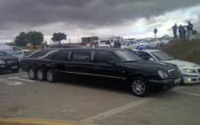 A black hearse waiting at Mandla Mandela's Mvezo home in the Eastern Cape. Picture:  Regan Thaw/EWN