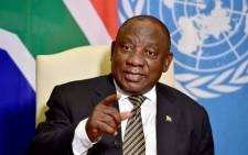 President Cyril Ramaphosa address the United Nations on 21 September 2020. Picture: @PresidencyZA/Twitter