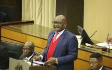 Gauteng Premier David Makhura tabled his fourth political report in the provincial legislature on Thursday7 December 2017. Picture: Twitter/@GautengANC