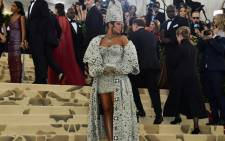 Rihanna arrives for the 2018 Met Gala in New York. Picture: AFP.