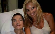 A photo of Joost van der Westhuizen and Amor Vittone during the 2016 Christmas period. Picture: Facebook.com.