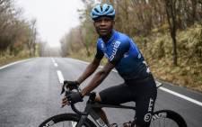 NTT Pro Cycling cyclist Nic Dlamini. Picture: @NTTProCycling/Twitter