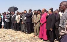 Religious leaders wait to address miners at Lonmin's Marikana Mine. Picture: Andrea van Wyk/EWN.