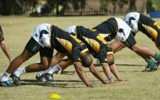 The Springboks during a training session at Fourways High School on 3 June, 2009. Picture: Taurai Maduna/Eyewitness News