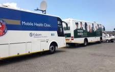 The mobile units will be used to screen learners for eye, ear and dental problems. Picture: Carmel Loggenberg/EWN.