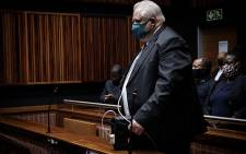 FILE: Former Bosasa COO Angelo Agrizzi appears in the Palm Ridge Magistrates Court on 14 October 2020. Agrizzi was denied bail in his corruption and bribery case. Picture: Xanderleigh Dookey/EWN