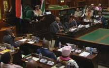 A screengrab of the National House of Traditional Leaders in session.