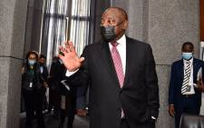 President Cyril Ramaphosa arrives at the state capture inquiry on 11 August 2021. Picture: GCIS