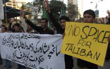 Pakistani Shi'ite Muslims chant slogans during a protest against the negotiation between the Pakistani government and Tehreek-e-Taliban Pakistan. Picture: AFP.