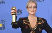 FILE: Actress Meryl Streep, recipient of the Cecil B. DeMille Award, poses in the press room at The Beverly Hilton Hotel on 8 January 2017 in Beverly Hills. Picture: AFP.