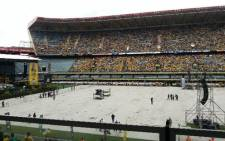 ANC members fill up the Kings Park Stadium for the January eight statement. Picture: Stephen Grootes/EWN