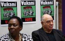 Former Intelligence Minister Ronnie Kasrils and Former Deputy Minister of Defence Nozizwe Madlala-Routledge launched the 'Vote No' campaign. Picture: EWN