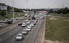 Bolt and UbBolt and Uber drivers blocked the N1 driving to the head offices of both companies in Marlboro to hand over their memorandum on 20 February 2020. Picture: Sethembiso Zulu/EWN