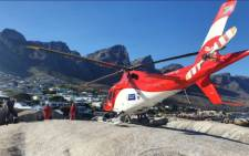National Sea Rescue Institute helicopter. Picture: Facebook/NSRI