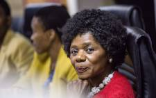 Outgoing Public Protector Thuli Madonsela during her final press conference in Pretoria. Picture: Reinart Toerien/EWN.