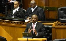 President of the sixth democratic Parliament Cyril Ramaphosa. Picture: @GovernmentZA/Twitter