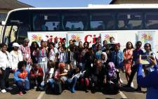 A group photo of some of the participants who are attending the Ahmed Kathrada Foundation leadership camp. Picture: Ahmed Kathrada Foundation Facebook page.